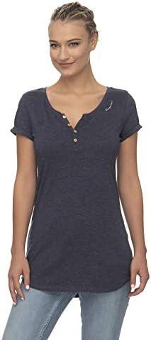 Ragwear T-Shirt damski T-shirt LYVIA Organic 2011-10060 niebieski granatowy 2028, kolor: niebieski , rozmiar: XS: Odzież
