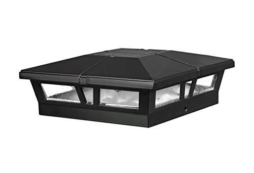 Classy Caps SLC771 Aluminum Cambridge Solar Post Cap, 6 x 6, Black