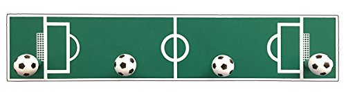- Headbourne 8052E Children's Soccer Field Hook Rail / Coat Rack with 4 Hooks