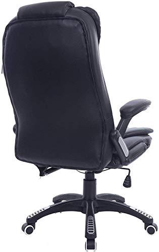 Datorstol hem mode svängbar stol lyft säte verkställande räffling extra vadderad kontorsstol knästol (färg: Mjölkvit)