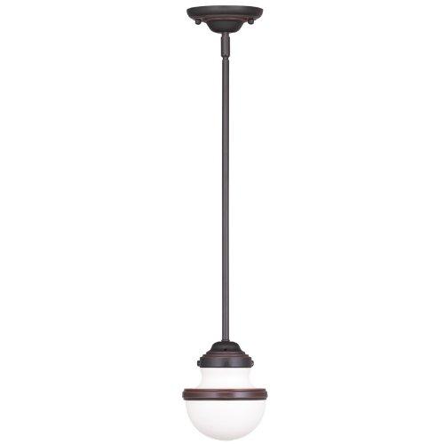 - Livex Lighting 5719-67 Oldwick 1 Light Mini Pendant, Olde Bronze