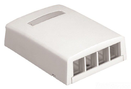 (Panduit NK4BXEI-AY 4-Port Surface Mounting Box for LD3/LD5/LD10, Electric)