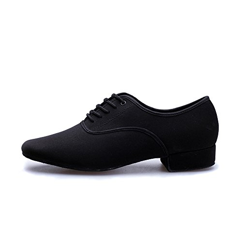 Image of Men's Black 1'' Latin Dance Shoes Modern Ballroom Shoes Salsa Tango Dancing Shoes (9.5 M US)