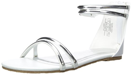 Golden Wrap (Ivanka Trump Golden Ankle Wrap Sandal (Little Kid/Big Kid), White/Silver, 4 M US Big)