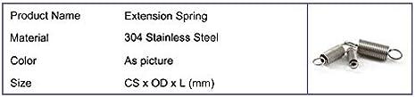 NO LOGO W-Shuzhen 10pcs in Acciaio Inox di Estensione Spring 0,5 Millimetri di Spessore Molle di trazione con Ganci 15-50mm Piccola Estensione Springs Taglia : 0.5x4x15mm