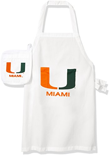 NCAA Miami Hurricanes Tail Gate Kit Apron & Mitt
