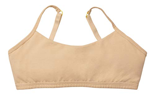 Yellowberry Ladybug Bra - Great First Bra for Teens and Tweens, Best Training Bra (SM, Caramel)