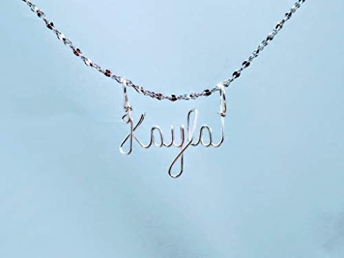 Hand Scripted 925 Sterling Silver Personalized Name Necklace Mariyah