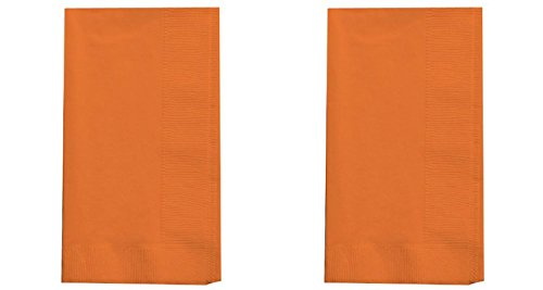 Creative Converting Touch of Color 2-Ply 50 Count Paper Dinner Napkins, Sun-Kissed Orange (2 pack)