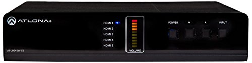 """Atlona AT-UHD-SW-52 4K/UHD 5"""" Switcher with Mirrored HDMI..."""