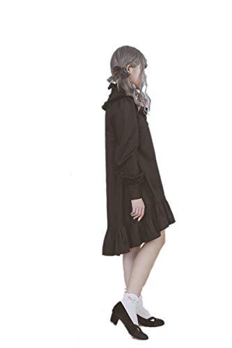 (ドリーデリー)Dolly×Delly レディースファッション【真昼のマドモアゼル 長袖 ワンピース】わんぴーす ブラック シャツワンピース フィッシュテール Aライン ガーリー