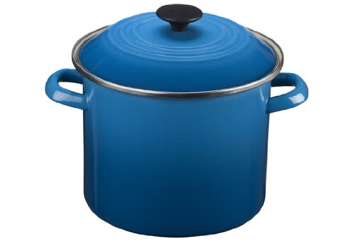 Le Creuset Enamel-on-Steel 20-Quart Covered Stockpot, Marseille ()