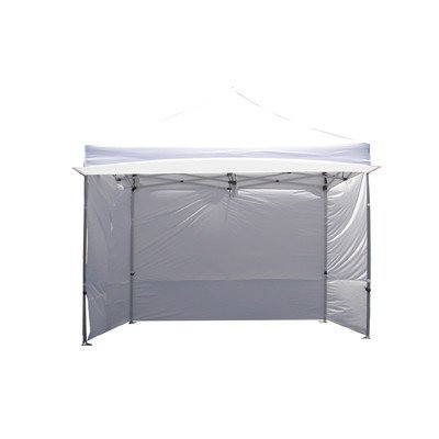 Impact Canopy 10' x 10' Instant Pop-Up Canopy Tent with Sidewalls, Awning, Steel Frame, and Aluminum Legs, White