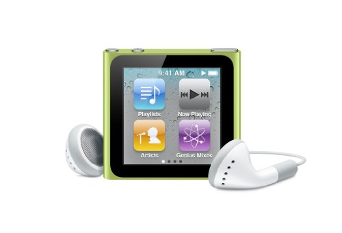 Apple iPod nano 16GB 6th Generation (Green ) Discontinued Model (In Plain White Box)