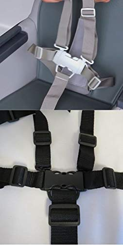 5 Point Harness Buckle Plus Straps Replacement Part for Skip Hop Tuo Convertible High Chair Seat Safety for Babies, Toddlers, Kids, Children