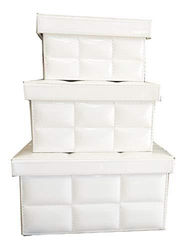 Conjunto Com 3 Caixas Matelassé Sarquis Samara Branco