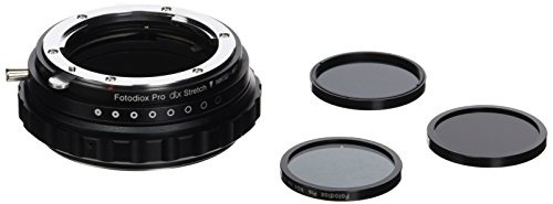 Fotodiox DLX Stretch Lens Mount Adapter - Nikon Nikkor F Mount G-Type D/SLR Lens to Micro Four Thirds (MFT, M4/3) Mount Mirrorless Camera Body with Macro Focusing Helicoid and Magnetic Drop-In Filters by Fotodiox