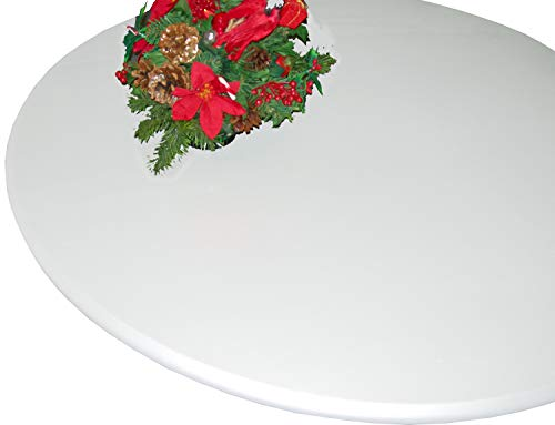 Lacquer Tops Large Round Fitted Table Cover for Special Occasions and Holidays doubles as protective table pad under linens for large round tables 48