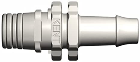 Kent Systems 3BY224-N02 Black Nylon Collection 3 3//8 Barb Male Triggering Open Flow Tube Fitting Quick Coupling