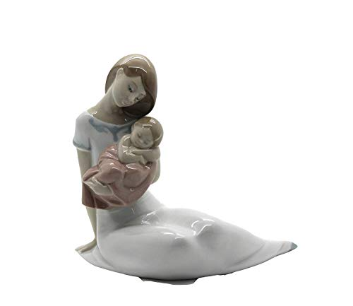 Light of my Days (Special Edition) Mother with baby GIRL - Nao by Lladro Porcelain Figurine