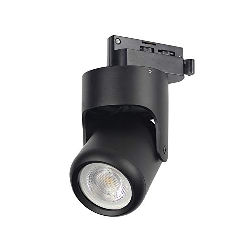(J.LUMI TRK1250 Track Light Head Hannover, Includes LED Bulb 5W 120V, 3000K Warm White, Contemporary Minimalist Design, on Halo Track System, Black Finish, Compatible Track Rail RAL3002 (not Included))