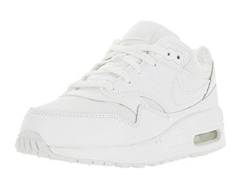Nike Kids Air Max 1  White/White Running Shoe 13 Kids US