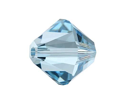 50pcs 6mm Adabele Austrian Bicone Crystal Beads Aqua Blue Compatible with Swarovski Crystals Preciosa 5301/5328 SSB610 (Beads Bicone Crystal 5301)