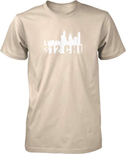 NOFO Clothing Co 312 CHI Skyline Men's T-Shirt, XL Putty