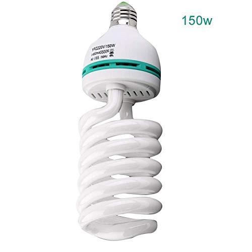 Studio Light Bulb LED Pro Photo Shooting Lamp, 5500K E27 for Photograph Video Photo Lighting Lamp Daylight (150W)