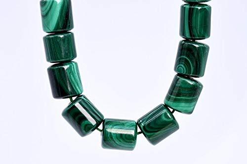 Arts and Crafts 19 Pcs - 10x10MM Green Malachite Beads Round Tube South Africa Grade AAA Genuine Natural Gemstone Loose Beads Making Supplies DIY