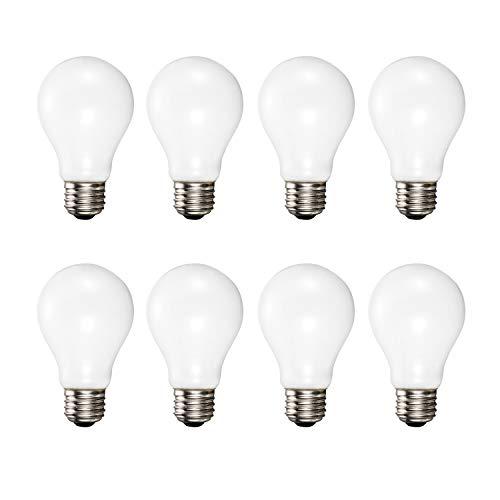 A19 Soft White Halogen Light Bulb, 72 Watt, (100W Equivalent), 2700K Soft White, E26 Medium Base, 1400 Lumens, 120V (8 Pack) (Lightbulbs 100 Watt Halogen)