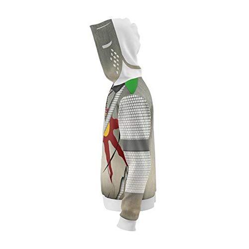 Boomtrader Men's 3D Printing Warrior Knight Artorias Jacket Adult Zip up  Hoodie Sweatshirt Cosplay Costume (X-Large, Grey)
