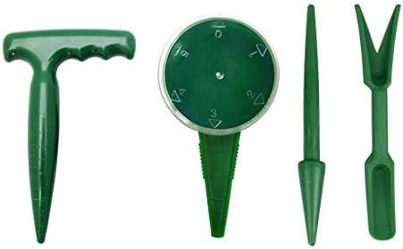 YFairy Gartenhandwerkzeug, Blumenpflanzensäge, traditionelles Set mit Pistolengriff, Saatgut-Spender, Sämling-Pikierstab und Widger
