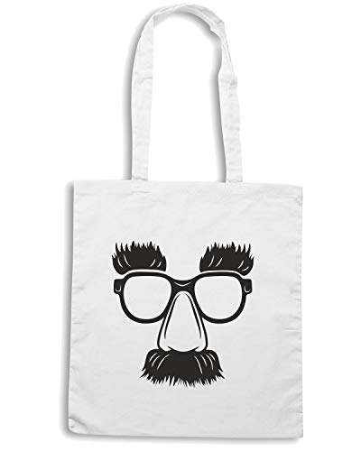 Speed Shirt Borsa Shopper Bianca FUN0064 GROUCHO GLASSES