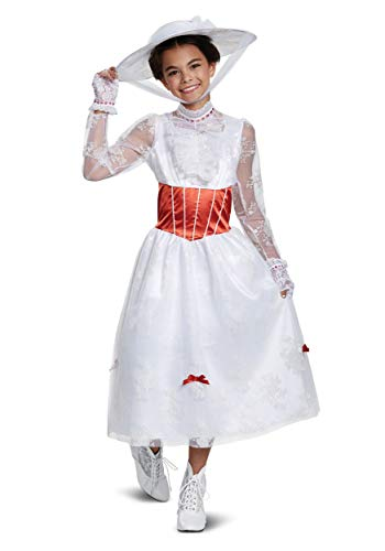 (Disguise Mary Poppins Deluxe Child Costume, White,)