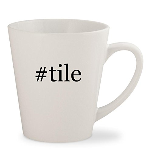 #tile - White Hashtag 12oz Ceramic Latte Mug Cup (Tile Ceramic Porcelanosa)