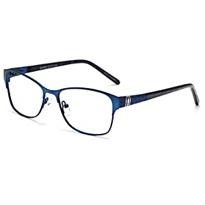 OCCI CHIARI Women Fashion Metal Optical Eyewear Frames Clear lens Glasses(Blue, 52)