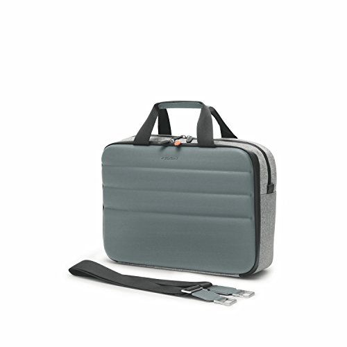 Fedon 1919 Ninja Collection NJ File 2 Doc Grey/Silver Premium Aktentasche 13 Laptop Notebook MacBook Tasche Grau Silber