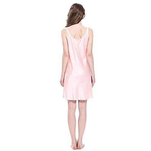 Verano Rosa Pijama Noche Vestido Adorable Cálido Damas Corto Hell Seda Camisón Dormir Sche Mini Ropa De PRnIwZOnqB
