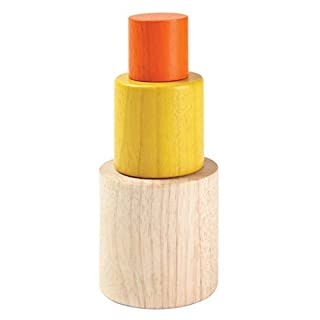 PlanToys Wooden Nesting Cylinders Stacking and Sorting Toy (5376)   Sustainably Made from Rubberwood and Non-Toxic Paints and Dyes