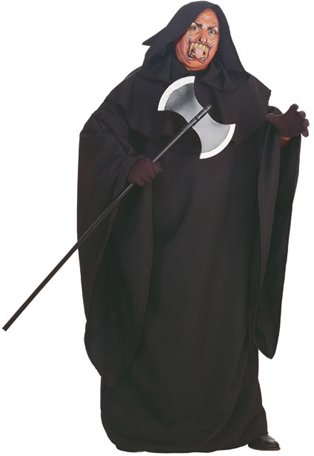 Black Hooded Robe Plus Size (Black Men Halloween Costumes)