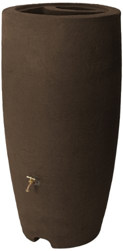 (Algreen Products Athena Rain Barrel 80-Gallon, Brownstone)