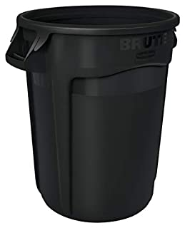 Rubbermaid Commercial 1867531 BRUTE Heavy-Duty Round Waste/Utility Container, 32-gallon, Black (B00EUP8DN2) | Amazon price tracker / tracking, Amazon price history charts, Amazon price watches, Amazon price drop alerts
