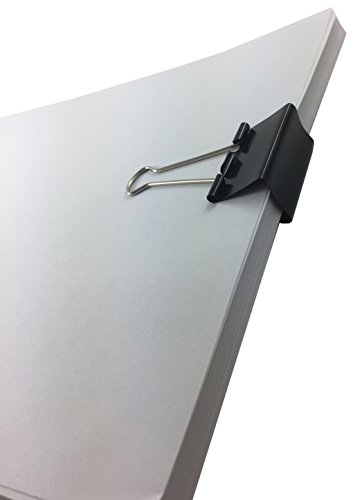 Clipco Binder Clips Medium 1.25-Inch Black (96-Pack) Photo #2