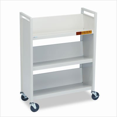 BREL330 - Bretford Steel Slant Shelf Single-Sided Book Cart/Stand ()