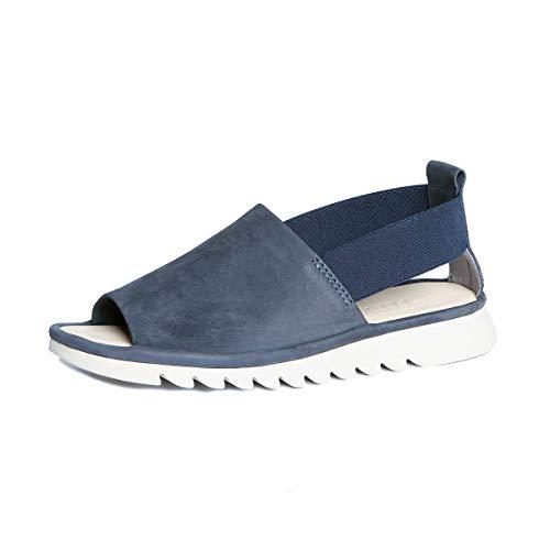 The FLEXX Footwear Women's Shore Line Blue Nubuck Sandal Size 10 M