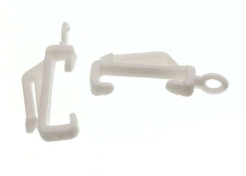 Lot Of 200 Curtain Rail Track Glide Glider Hooks Fit Woolworths Homebase