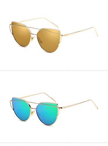Polarizadas Hombre de Fliegend Ligero Gafas Gafas Unisex Retro Lente Súper con UV400 Mujer Sol Metal Marco Espejo Sol Gafas Vintage C16 de 8qqxC7d