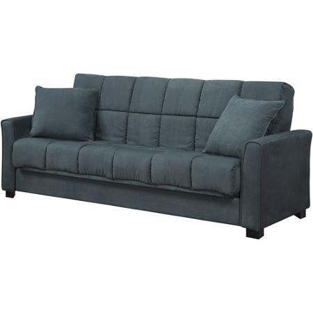 Baja Convert-a-Couch Sofa Sleeper Bed, Medium Blue