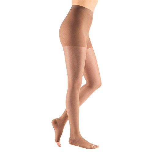 (Medi Sheer&Soft Pantyhose 20-30mmHg Open Toe, III, Natural)